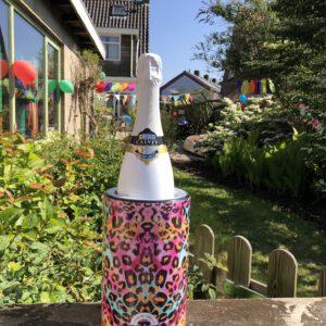 leopard champagne cooler